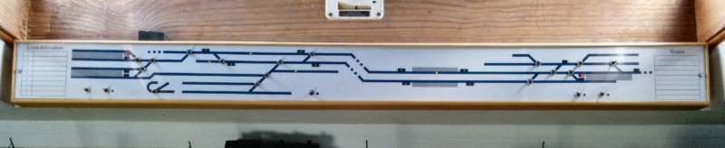 1407-009 Model Railway - New Mimic Panel